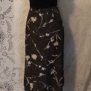 Vintage- Ellen Figg Rayon Midi Skirt
